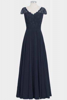 A Line Chiffon Lace Cap Sleeves Floor Length Bridesmaid Dresses_1