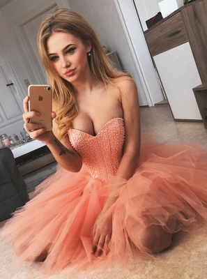 Chic Sleeveless Homecoming Dresses   Sweetheart A-Line Cocktail Dresses_1