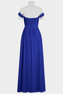 A Line Chiffon Off-the-Shoulder Sweetheart Floor Length Bridesmaid Dresses_2
