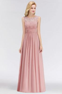Long Lace Sleeveless Chiffon Scoop Elegant Bridesmaid Dress_1