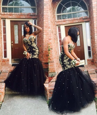 Strapless Sweetheart Mermaid Prom Dresses | Appliques  Long Evening Gowns_3