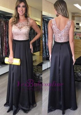 Lace Sleeveless Floor-Length Zipper Gorgeous A-Line Prom Dresses_1