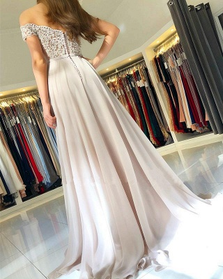 Off-the-Shoulder  Long Elegant Lace-Appliques Prom Dress_5