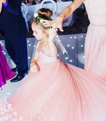 Lovely Spaghetti Straps Flower Girl Dresses | Flowers Tulle Long Pageant Dresses For Kids_1