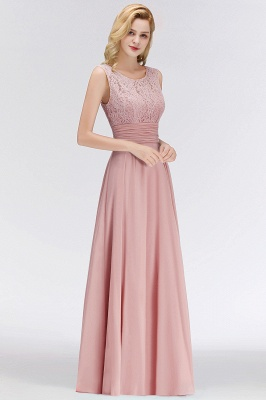 Long Lace Floor-Length Sleeveless Scoop Gorgeous Chiffon Bridesmaid Dress_1
