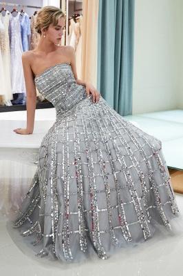 Elegant A-Line Sequins Strapless Floor Length Prom Dress   Evening Dresses_3