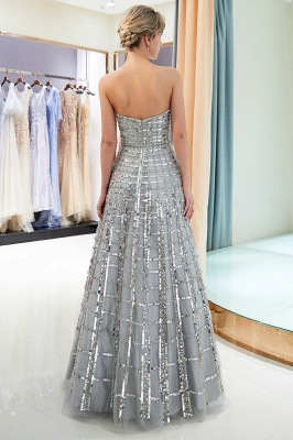 Elegant A-Line Sequins Strapless Floor Length Prom Dress   Evening Dresses_5