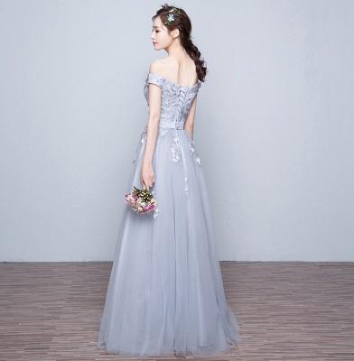 Off-the-Shoulder Floor-Length Lace-Appliques Lace-Up-Back A-line Prom Dresses_5