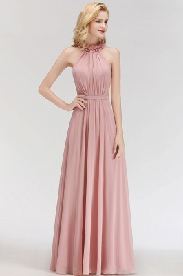 Elegant A-Line Chiffon Bridesmaid Dresses | Halter Ruffles Long Formal Dresses_3