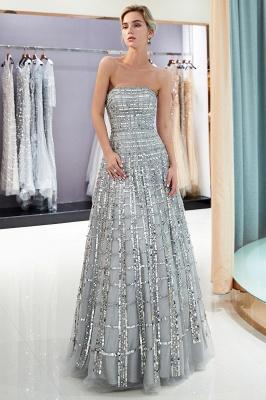 Elegant A-Line Sequins Strapless Floor Length Prom Dress   Evening Dresses_2