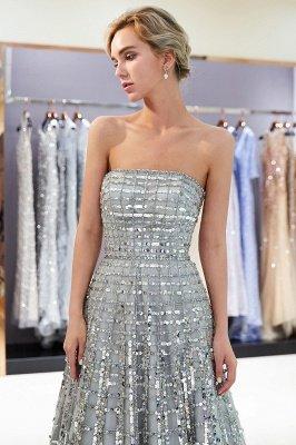 Elegant A-Line Sequins Strapless Floor Length Prom Dress   Evening Dresses_4
