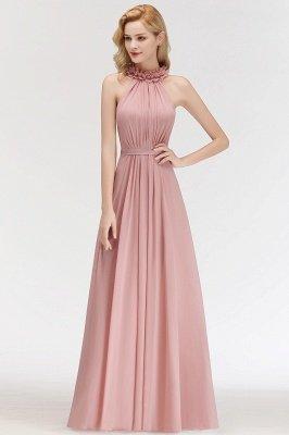 Elegant A-Line Chiffon Bridesmaid Dresses | Halter Ruffles Long Formal Dresses_4