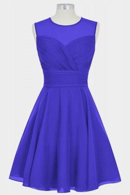A Line Chiffon Round Neck Sleeveless Bridesmaid Dresses with Ruffles_4