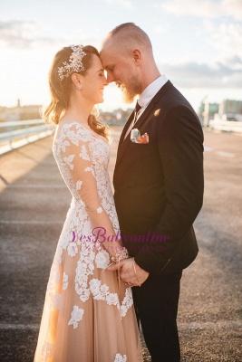Gorgeous Long-Sleeve Lace A-Line Evening Dress_4