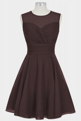 A Line Chiffon Round Neck Sleeveless Bridesmaid Dresses with Ruffles_3