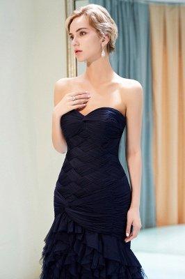 Elegant Mermaid Sweetheart Ruffles Floor-Length Prom Dresses | Evening Gown_5