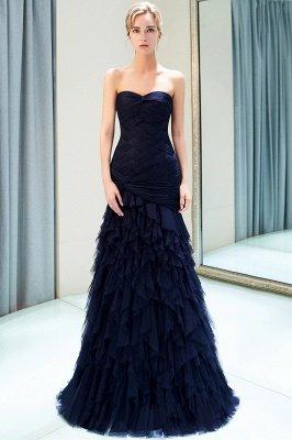 Elegant Mermaid Sweetheart Ruffles Floor-Length Prom Dresses | Evening Gown_2