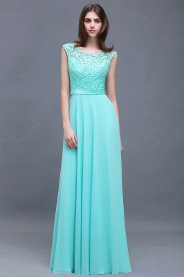 A-Line Lace-Appliques Chiffon Scoop Glamorous prom dresses_3