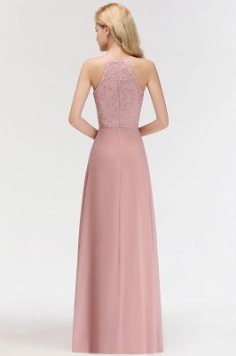 Elegant A-Line Chiffon Bridesmaid Dresses | Halter Lace Wedding Party Dresses_6