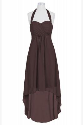 A Line Chiffon Hi-Lo Halter Bridesmaid Dresses with bowknot_5