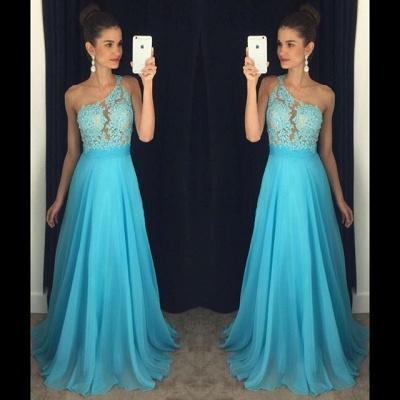 Appliques Gorgeous One-Shoulder Lace A-line 2019 Prom Dress_2