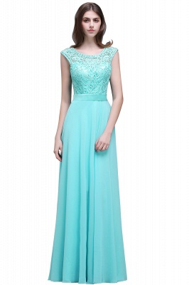 A-Line Lace-Appliques Chiffon Scoop Glamorous prom dresses_2