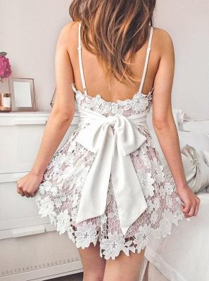 Sexy Spaghetti-Strap Homecoming Dresses | V-Neck A-Line Cocktail DressesBC2643_3