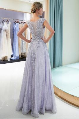 Elegant A-Line Lace Appliques Crystal Prom Dress | Sleeveless Long Evening Dress Online_3