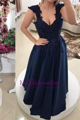 Prom Floor-Length Backless Two-straps Gown Sexy Evening Dress_1