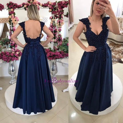 Prom Floor-Length Backless Two-straps Gown Sexy Evening Dress_3