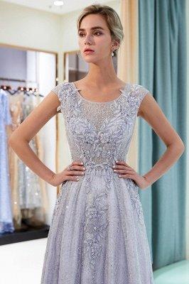 Elegant A-Line Lace Appliques Crystal Prom Dress | Sleeveless Long Evening Dress Online_4