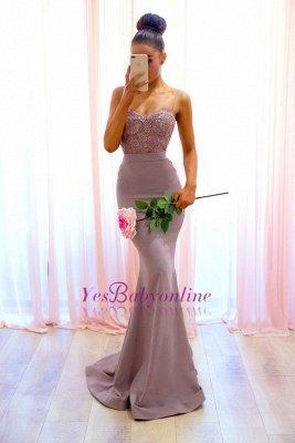 Sexy Sleeveless Mermaid Spaghetti-Straps Lace Evening Dress_1