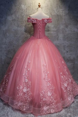 Ball Gown Sweet 16 Dresses | Off-the-Shoulder Appliques Quinceanera Dress_3