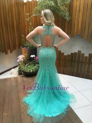 2019 Luxury Beading Prom Dresses Sleeveless Open Back Evening Gowns_1