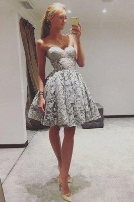 Elegant Sweetheart Homecoming Dresses | A-Line Sleeveless Cocktail Dresses_1