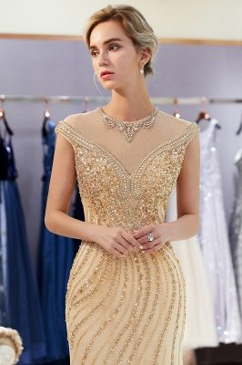 Glamorous Mermaid Off-the-Shoulder Prom Dress | 2019 Long Prom Dress with Crystals_4