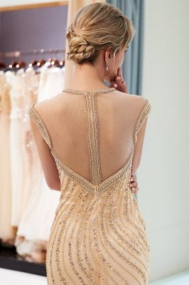 Glamorous Mermaid Off-the-Shoulder Prom Dress | 2019 Long Prom Dress with Crystals_5