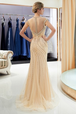 Glamorous Mermaid Off-the-Shoulder Prom Dress | 2019 Long Prom Dress with Crystals_3