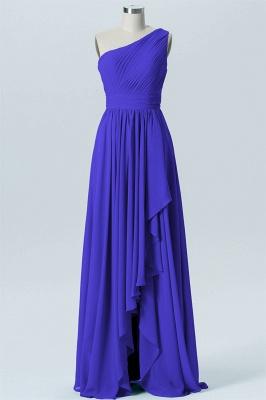 A Line Chiffon Hi-Lo One Shoulder Bridesmaid Dresses with Ruffles_5