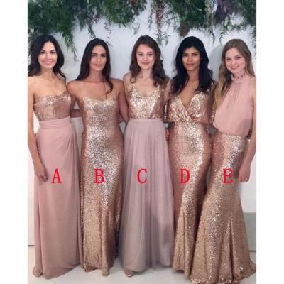 Mismatch Bridesmaid Dress,Sequin Bridesmaid Dresses,Chiffon Bridesmaid Dress_3