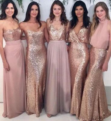 Mismatch Bridesmaid Dress,Sequin Bridesmaid Dresses,Chiffon Bridesmaid Dress_1