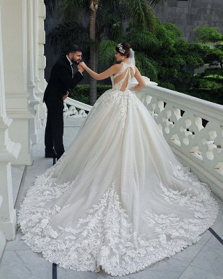 Jewel Sleeveless Lace Ball Gown Wedding Dresses | Gorgeous Bridal Gown_2