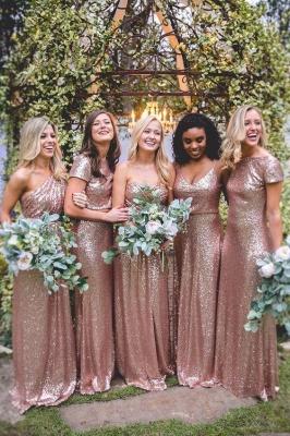 Mismatch Sequin Bridesmaid Dresses,cheap Bridesmaid Dresses Floor Length_1