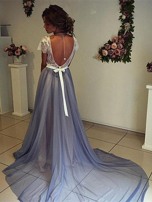 Elegant A-Line Backless Prom Dresses | Sleeveless  Evening Dresses_6