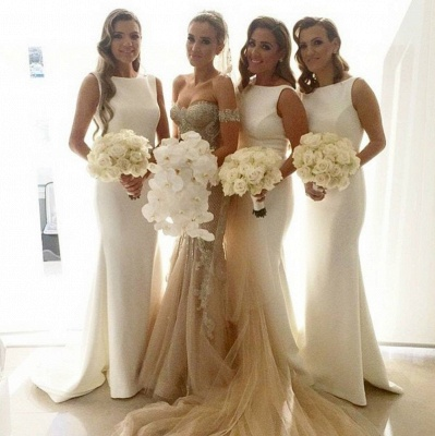 Charming Sleeveless Sweep Train Bridesmaid Dresses | Gorgeous Wedding Guest Dresses_4