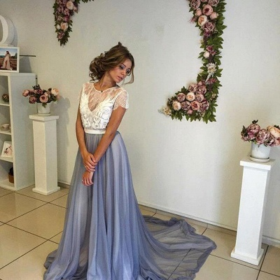 Elegant A-Line Backless Prom Dresses | Sleeveless  Evening Dresses_3