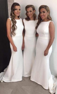 Charming Sleeveless Sweep Train Bridesmaid Dresses | Gorgeous Wedding Guest Dresses_1