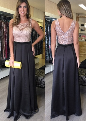 Lace Sleeveless Floor-Length Zipper Gorgeous A-Line Prom Dresses_2