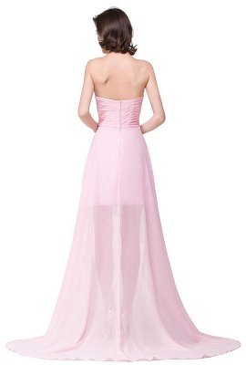 2019 Simple  Hi-Lo Sweetheart A-Line Prom Dresses with Beadings_3