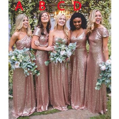 Mismatch Sequin Bridesmaid Dresses,cheap Bridesmaid Dresses Floor Length_3